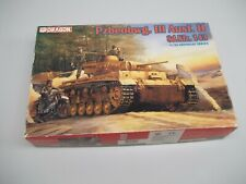 Vintage 1996 Dragon Pzbeobwg Iii Ausf H 1/35 Scale Model Kit Untouched in Bags