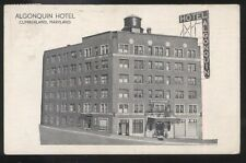 Postcard CUMBERLAND Maryland/MD  Algonquin Hotel view 1930's