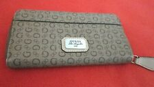 "Guess Women Brown Logo Leather Accordion Wallet Brown Contrast Interior,8""x4""x1"""