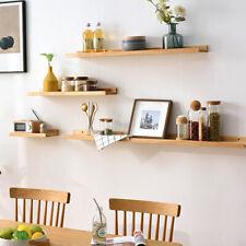 Wall Floating Shelf DIY Mount Storage Book Display Rack Wooden