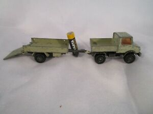Matchbox Super Kings Unimog Truck & Trailer Made in England by Lesney 1978