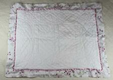 Simply Shabby Chic Pillow Sham White Quilted Roses Border hc2