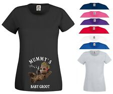 Mummy's Baby Groot T Shirt Pregnancy Maternity Marvel Christmas Gift Women Top