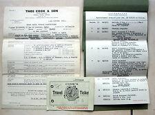 PAPIER TRAIN VOYAGE EN ESPAGNE THOS COOK & SON TRAVEL TICKET ITINERARIO DE VIAJE
