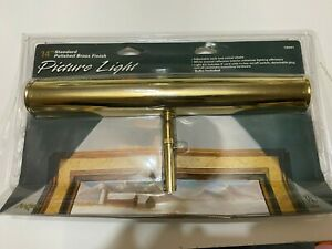 "Angelo 14"" Picture Light Antique Brass with Two 25 Watt Bulbs NEW Sealed M4"
