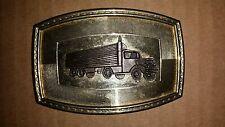 Vintage Big Rig Truck Semi Trucking Truckers Truck Belt Buckle