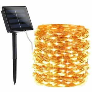 Christmas LED Outdoor Solar Lamps String Lights Party Garlands Garden Lights