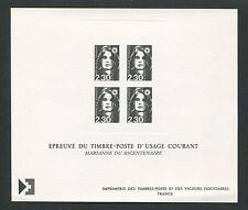 France Epreuve de Luxe 1990 Marianne lujo bloque Deluxe Sheet EDL h1002