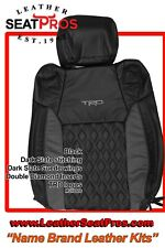 Leather Seat Covers 14 21 Toyota Tundra Crewmax Double Cab Black Trd Diamond