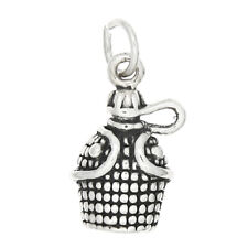 STERLING SILVER - WATER CONTAINER - CANTEEN CHARM/PENDANT