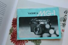 manuale yashica mg -1