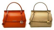 Michael Kors Women's Talia Large Top Handle Satchel Leather Handbag Crossbody