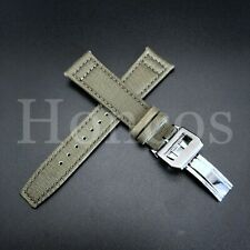 21MM CANVAS NYLON WATCH STRAP BAND FOR IWC PILOT PORTUGUESE WATCH CLASP GREEN