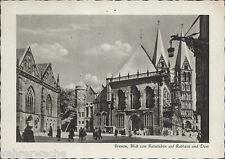 -003. AK BREMEN Blick von Ratsstuben auf Rathaus und Dom, gelaufen 1960