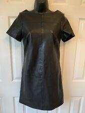 BNWT  Boden Black soft leather dress short sleeve size 6