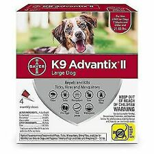 Bayer K9 Advantix Ii Flea, Tick and Mosquito Prevention for Large Dogs - 4 Doses