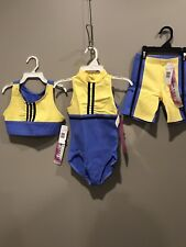 3 Pieces New With Tags Leo,Shorts,And Matching Crop Top Gilda Marx Brand