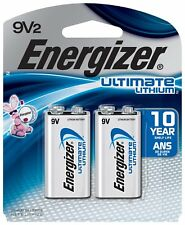 2 Pack Energizer 9 Volt 9V Ultimate Lithium Battery Exp. 2027