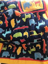 Lot 2 The Company Store Kids Quilt Comforter Animals & Pillow Sham Twin Bedding