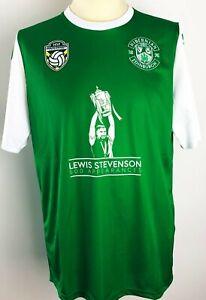 HIBERNIAN FC (HIBS) FOOTBALL SHIRT - STEVENSON - LIMITED EDITION - SIZE LARGE