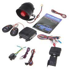 1-Way Car Vehicle Burglar Alarm System Keyless Entry System Security w/ 2 Remote