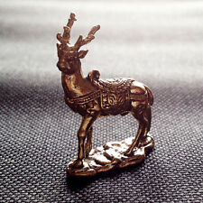 Lucky Animal Deer figurine Statue brass Miniature Wealth Charm Rich Attractive