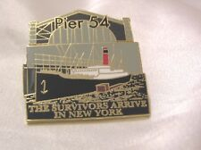 TITANIC 22ct GOLD-PLATED ENAMEL BADGE by the DANBURY MINT WHITE STAR LINE #5