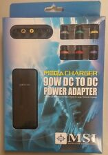 MSI Universal Car auto Power Adapter for Laptops: 90W Mega Charger