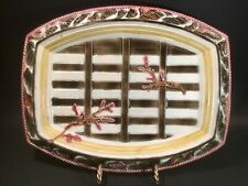 Rare Antique Wedgwood Majolica Boat and Seaweed Platter