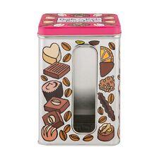 Boîte à Fenêtre Petits Chocolats Confiserie Bonbons Métal DLP Derrière La Porte