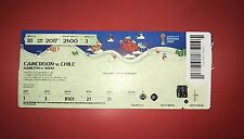 Sammler Used MINT Ticket #3 Cameroon Chile Kamerun Confed Cup Unfolded Top