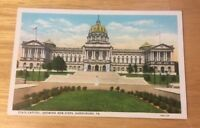 State Capitol HARRISBURG PA vintage white border postcard - New Steps