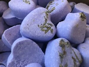 50 x Lavender Handmade Heart Wedding Favour Bath Bomb - Birthday, Christmas