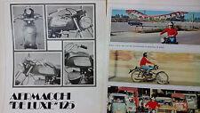 Prova Articolo AERMACCHI DE LUXE 125   pagine 5 tratte da rivista 1972