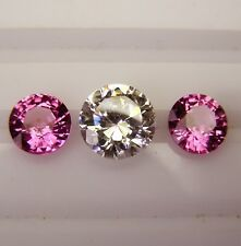 2.26ct! PINK CEYLON SAPPHIRES NATURAL COLOUR -MATCHING PAIR+CERTIFICATE INCLUDED