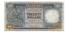 1986 $20 Hong Kong Bank Note  Hongkong & Shanghai Banking Corporation Gorgeous !