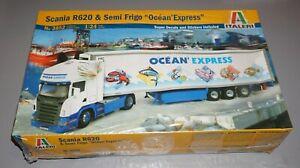 Scania R620 & Semi Frigo Ocean Express Truck Italeri 1/24 Factory Sealed.