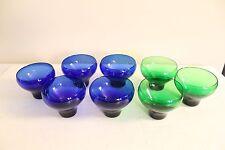 Awesome Vintage Glassware Glass Cups Green Cobalt Blue Antique Cool Unique Rare