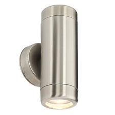 Saxby Lighting Atlantis 2lt wall IP65 35W Marine grade brushed stainless steel &