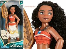 """MOANA WITH BOAT AND PADDLE 11"""" CLASSIC DOLL ~DISNEY STORE~ FREE USA SHIP"""