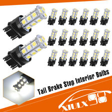 20x White 6000K 3157/3156 5050 18 SMD LED Turn Signal Backup Reverse Light Bulbs