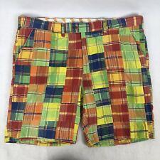 Loudmouth Golf Shorts Mens Size 42 Multi Color Patchwork Plaid