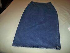 """Squeeze,juniors dark blue denim skirt,size 9/10,waist 26"""" Hips 32"""".length 33"""""""