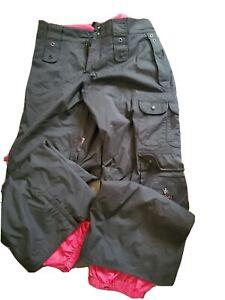 BURTON Black/Pink Women's Snowboard Pants Insulated Size Medium
