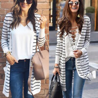 Fashion Women Sweater Long Sleeve Loose Cardigan Knitwear Jumper Coat Jacket Top