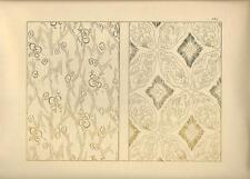 Stampa antica GIAPPONE JAPAN STYLE decorazioni 1885 Antique print