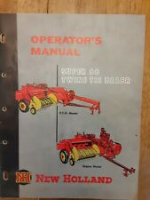 New Holland Super 66 Twine Tie Baler Operators Manual & Other