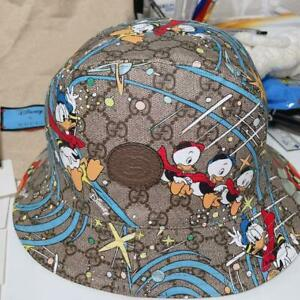 Gucci Disney  Donald Duck Bucket Hat Tagged L Size Limited
