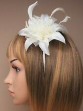Kopfschmuck & Fascinators Del Mar Rennsport Fascinator Hut Creme Rosa Extragroß Rose Blume Kentucky Derby