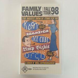 FAMILY VALUES Fall Tour 98 VHS Tape Pal feat Korn Rammstein Ice Cube Limp Bizkit
